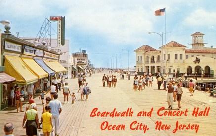 Boardwalk and Concert Hall, Ocean City, NJ 1967