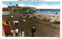 Boardwalk and Concert Pier, Ocean City, NJ 1946