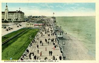 Boardwalk and Monterey Hotel, Asbury Park, NJ