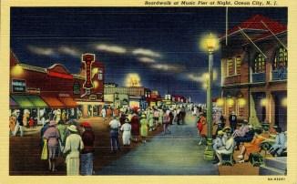 Boardwalk at Music Pier at Night, Ocean City, NJ