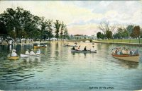 Boating on the Lake, Willow Grove Park, PA 1909
