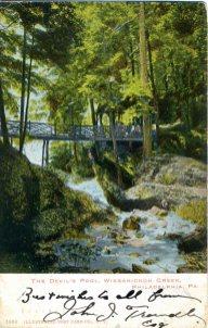 Devil's Pool, Wissahickon Creek, Philadelphia, PA 1906