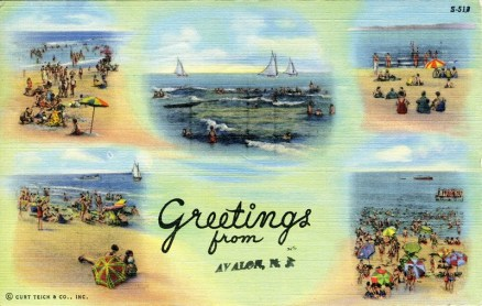 Greetings from Avalon, NJ 1944