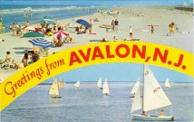 Greetings from Avalon, NJ 1957