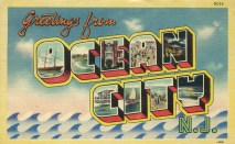 Greetings from Ocean City, NJ, postmarked July, 15, 1944