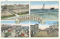 Greetings from Ocean City, NJ, postmarked May 21, 1936