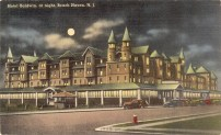 Hotel Baldwin at Night, Beach Haven, NJ 1948