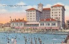 Hotel Flanders and Outdoor Pools, Ocean City, NJ 1938