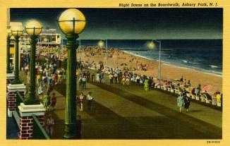 Night Scene on the Boardwalk, Asbury Park, NJ