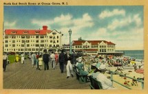 North End Beach Scene at Ocean Grove, NJ