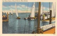 Sailboat Races, Beach Haven, NJ 1952