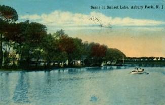 Scene on Sunset Lake, Asbury Park, NJ