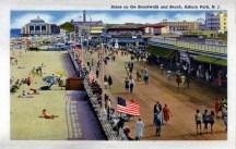 Scene on the Boardwalk and Beach, Asbury Park, NJ