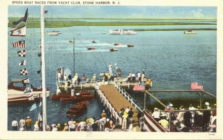Speed Boat Races from Yacht Club, Stone Harbor, NJ