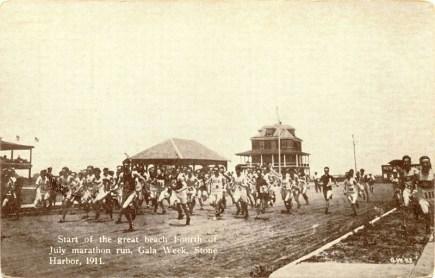 Start of July 4th 1911 Beach Marathon, Stone Harbor, NJ