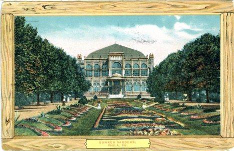 Sunken Gardens, Fairmount Park, Philadelphia, PA 1908