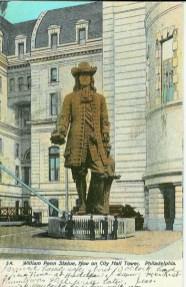 William Penn Statue, Now on City Hall Tower, Philadelphia, PA