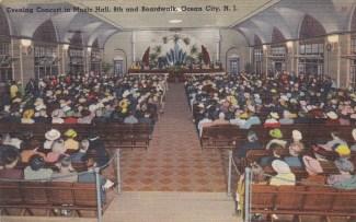 Evening concert in Music Hall, 8th & Boardwalk, Ocean City, NJ