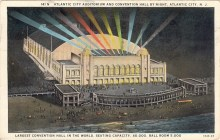 Atlantic City Auditorium and Convention Hall by Night, Atlantic City, NJ 1930