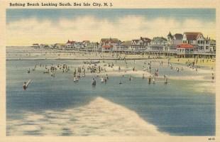 Bathing Beach, Looking South, Sea Isle City, NJ