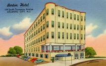 Borton Hotel, 124 So. Tennessee Ave., Atlantic City, NJ 1963
