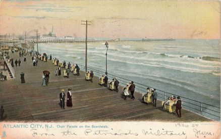 Chair Parade on the Boardwalk, Atlantic City, NJ 1906