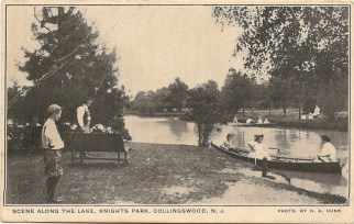 Scene Along the Lake, Knights Park, Collingswood, NJ