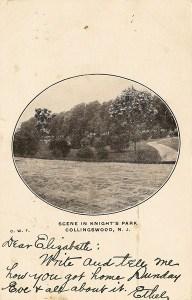 Scene in Knight's Park, Collingswood, NJ