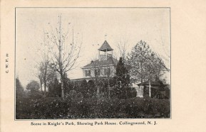 Scene in Knight's Park, Showing Park House, Collingswood, NJ