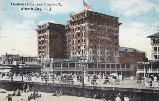 Chalfonte Hotel and boardwalk, Atlantic City, NJ
