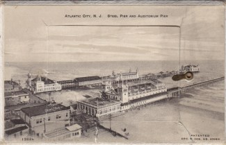 Atlantic City, NJ Steel Pier and Auditorium Pier
