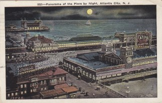 panorama of the pier by night, Atlantic City, NJ