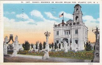 Captain Young's residence on Million Dollar Pier, Atlantic City, NJ