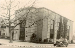 Cinnaminson Bank - c. 1930s, scan courtesy of Betty B. Hahle