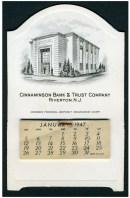 1947 Cinnaminson Bank desk calendar 4-7/8 x 3 inches