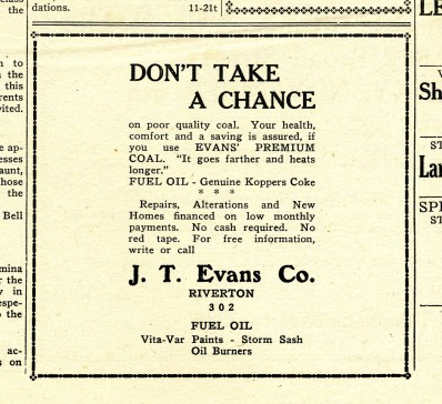 020_1939 Anniv Issue New Era sec1 p12 JT Evans ad - courtesy Mr. DeVece