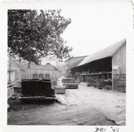 Show 038_1947 Dec JT Evans lumberyard - J.F. Yearly photo
