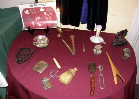 Can you guess the name or the use of these household items which might have been found in homes of the early 1900s?