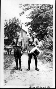 1931, July 4th - Lester on left & Joseph on right - Columbus Cadets