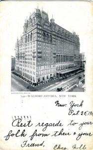 Waldorf Astoria, New York 1904