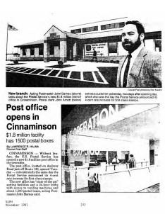 Cinnaminson Post Office NJPH Nov1991 p1