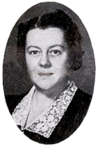 Mrs. Mervil E. Haas—the longest serving Riverton postmaster IMAGE CREDIT:  HSR Archives
