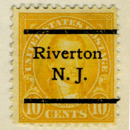 precancel Riverton James Monroe 1923 issue-10c