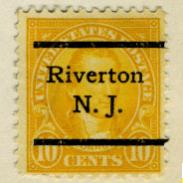 precancel Riverton James Monroe 1923 issue-10c