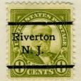 precancel Riverton Ulysses Grant 1923 issue-8c