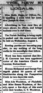 Locals, New Era, July 21, 1894