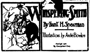 According to amazon.com, Whispering Smith by Frank Spearman was the most popular book of 1906.