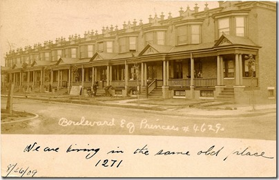 Boulevard east of Princess, North Camden, NJ 1909 postmark