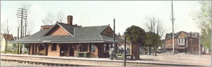 1887 RR Station opened, Robert's Store at right