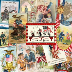 Vintage Decoration Day and Memorial Day postcards